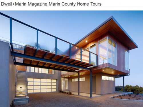 modern home tour in marin county, california.