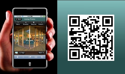 Marin MLS search on your iPhone or Android device.   Smartphone QR code for Marin mls search.