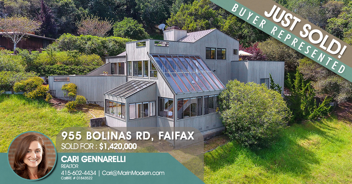 955 Bolinas Road Fairfax CA 94930 Sold