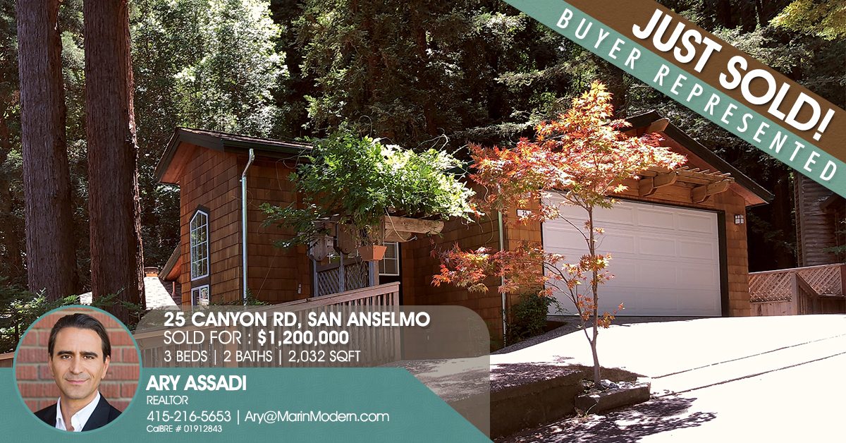 25 Canyon San Anselmo sold by Ary Assadi