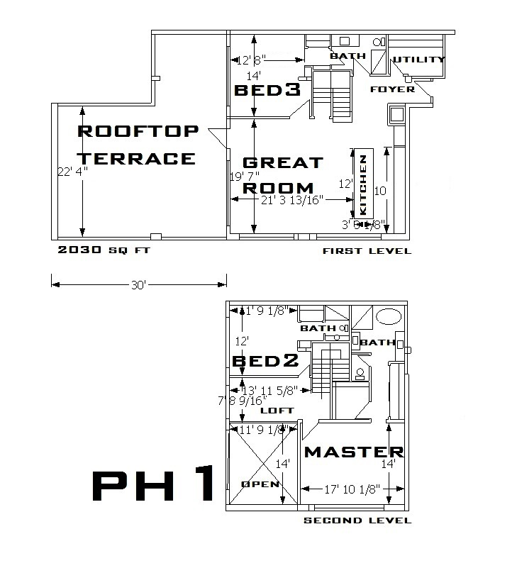 747 North Penthouse 1 Floorplan