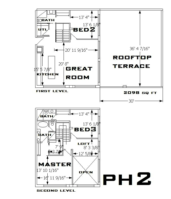 747 North Penthouse 2 Floorplan