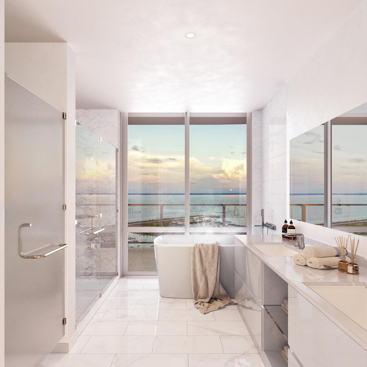 Bathroom in Condo in 400 Central St. Petersburg, FL