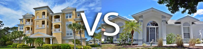 St. Petersburg FL Condo vs, Home