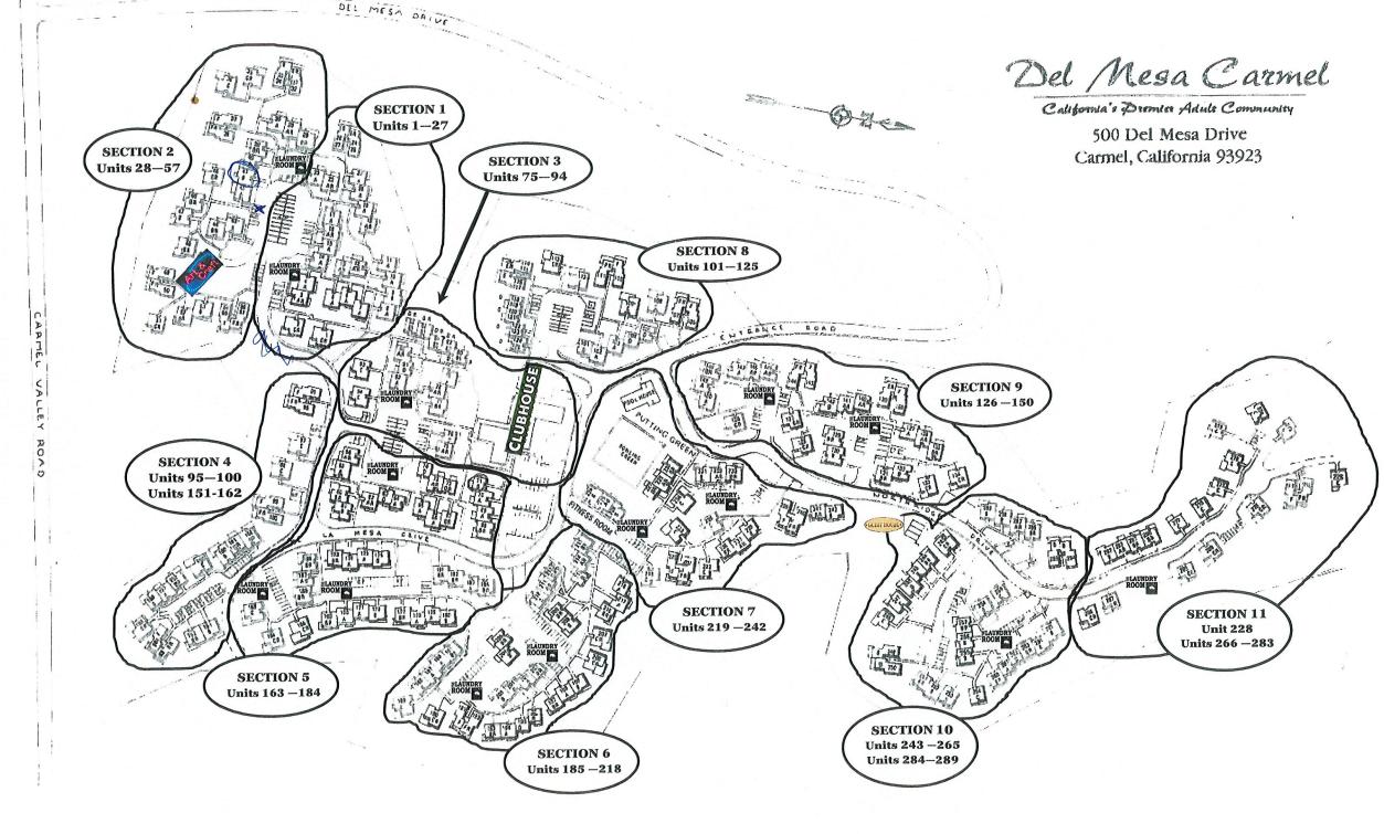 del mesa carmel map