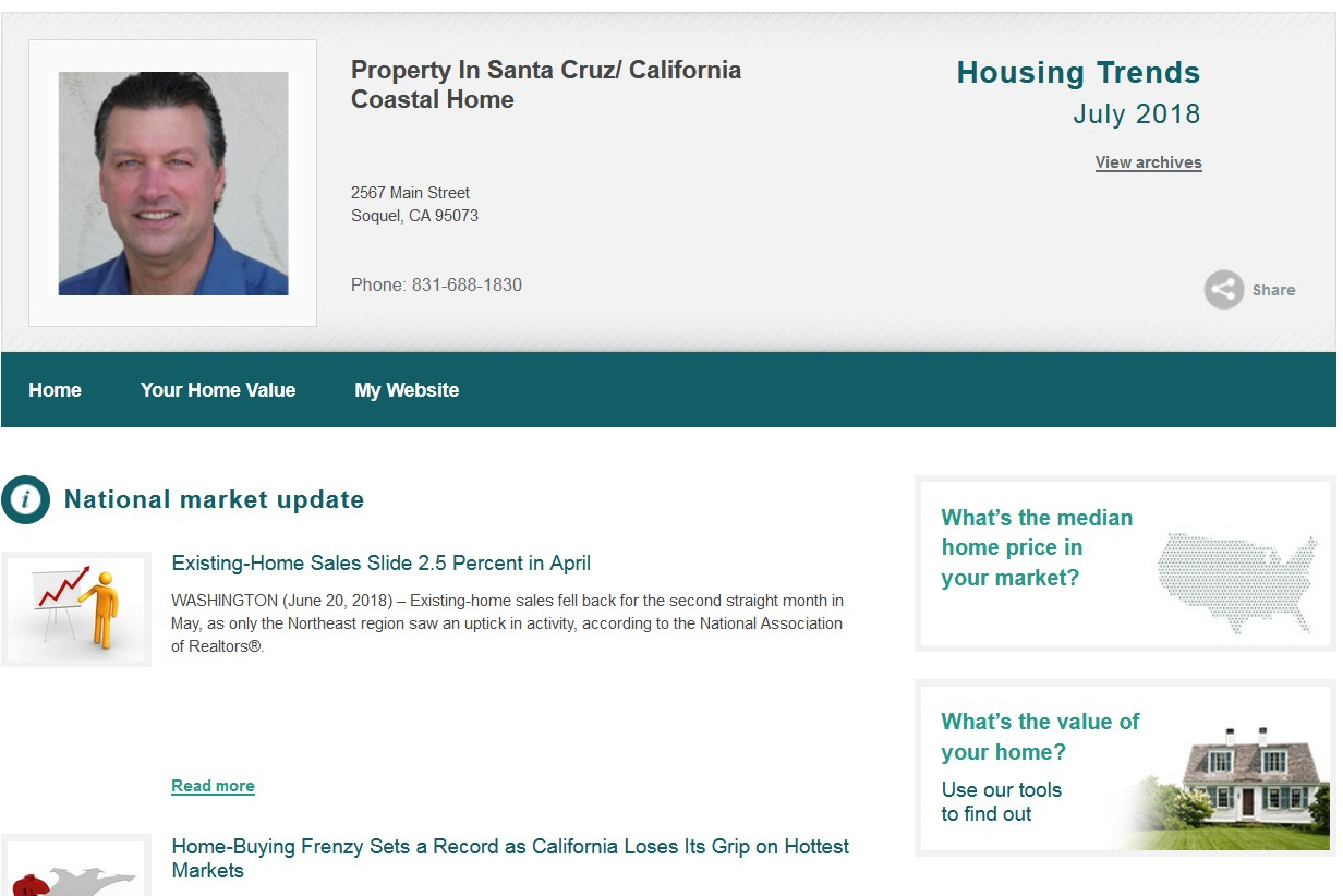 property in santa cruz July 2018 housing trends