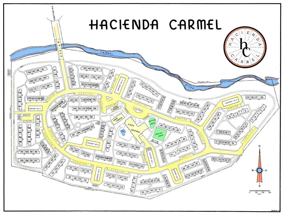 map hacienda carmel