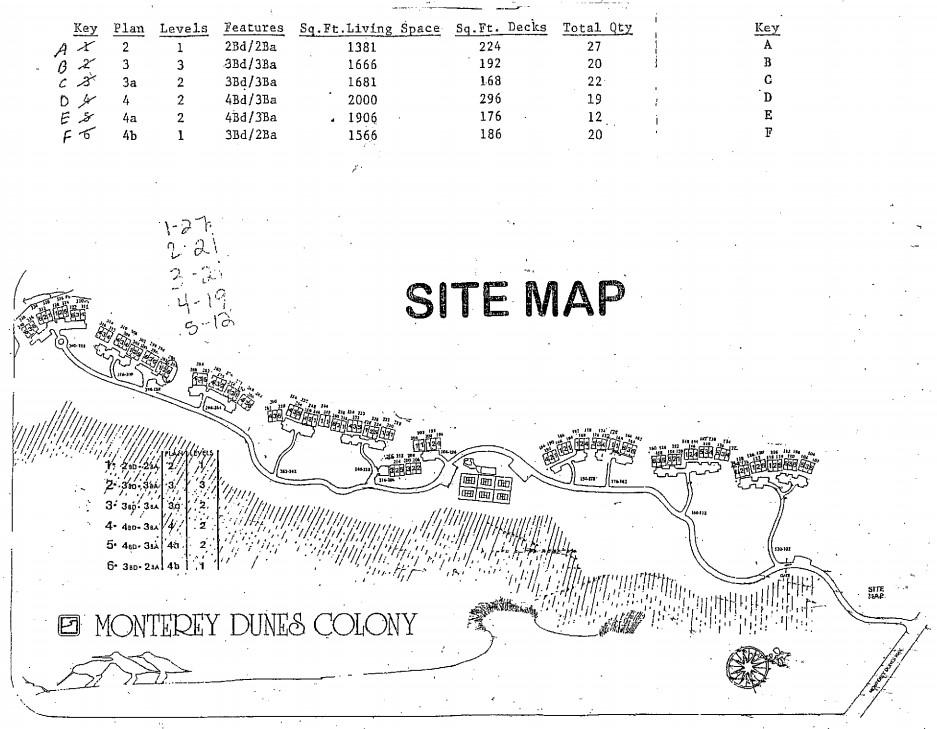 monterey dunes map