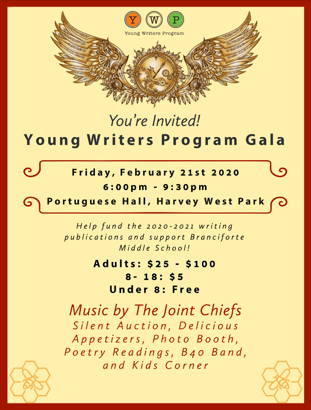 young writers program gala dance benefit portuguese hall