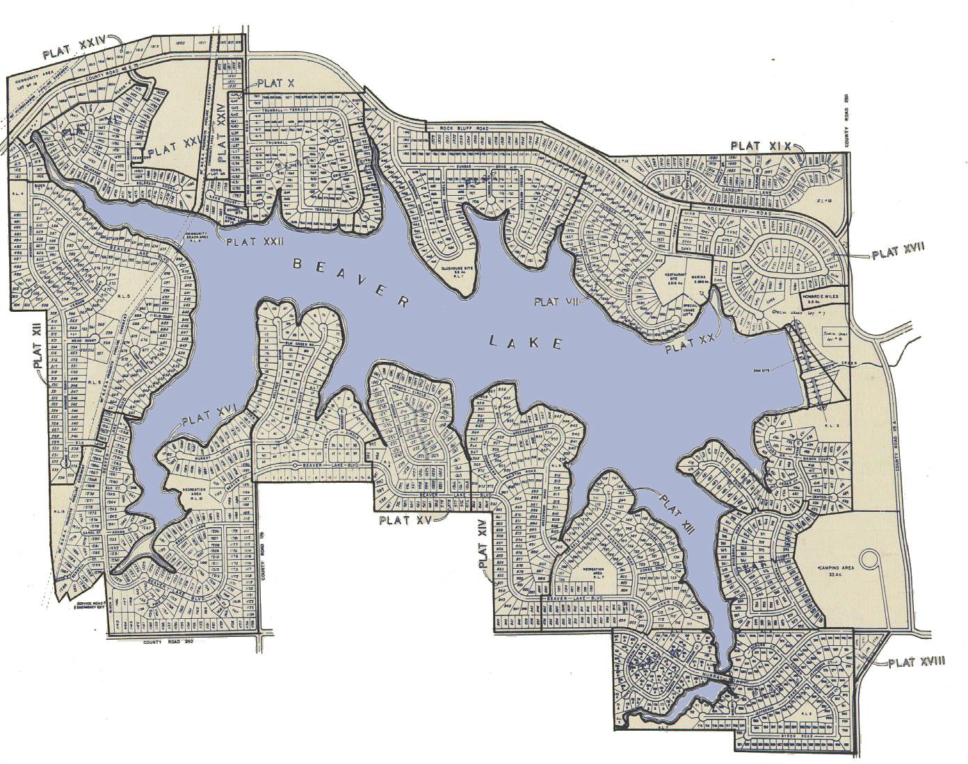 Beaver Lake Nebraska Plat Map