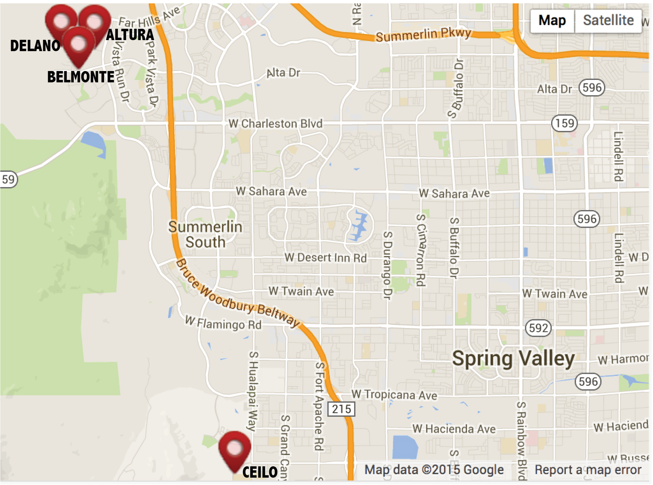 Summerlin New Developments Map