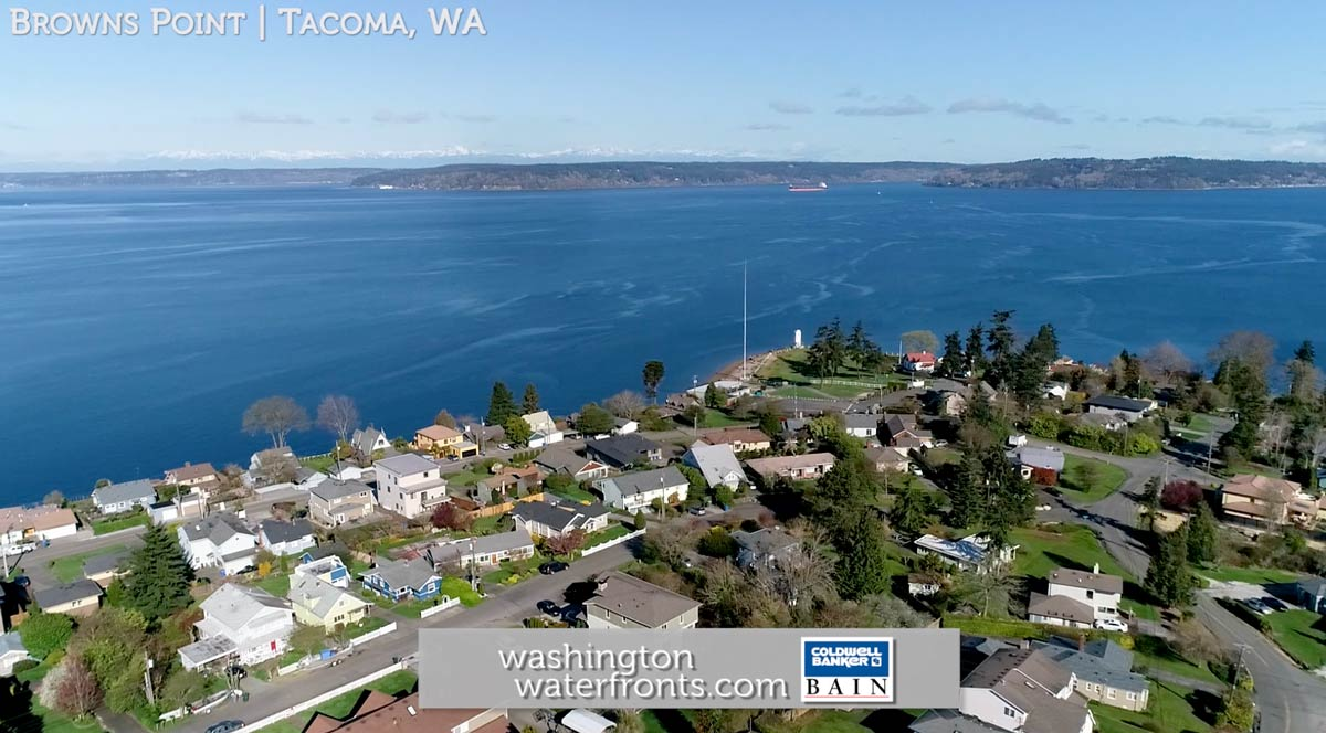 Browns Point Waterfront Real Estate in Tacoma, WA