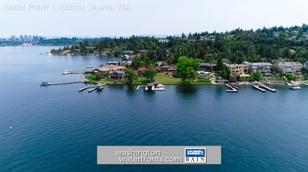 Faben Point Waterfront Real Estate in Mercer Island, WA
