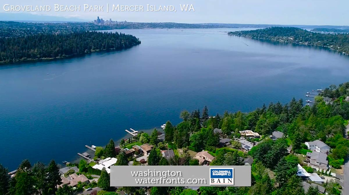 Groveland Beach Park Waterfront Real Estate in Mercer Island WA