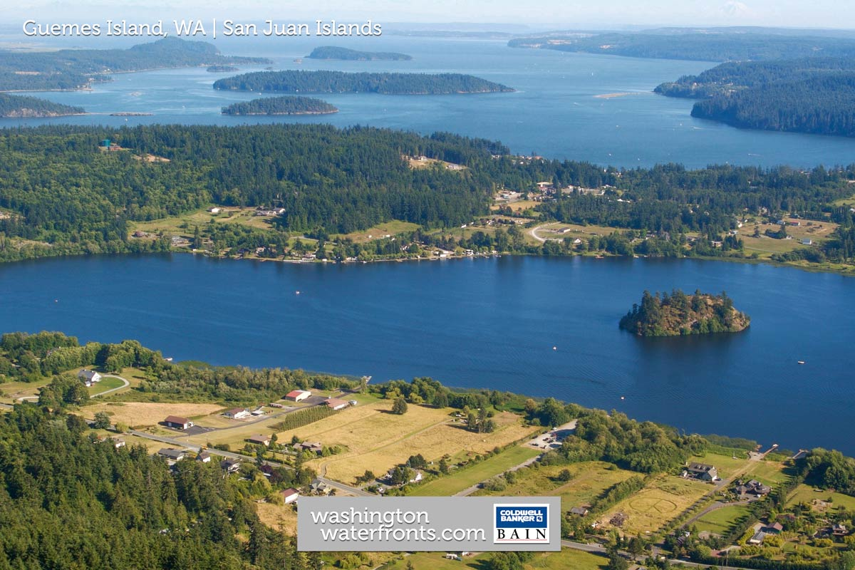 Guemes Island Waterfront Real Estate in San Juan Islands