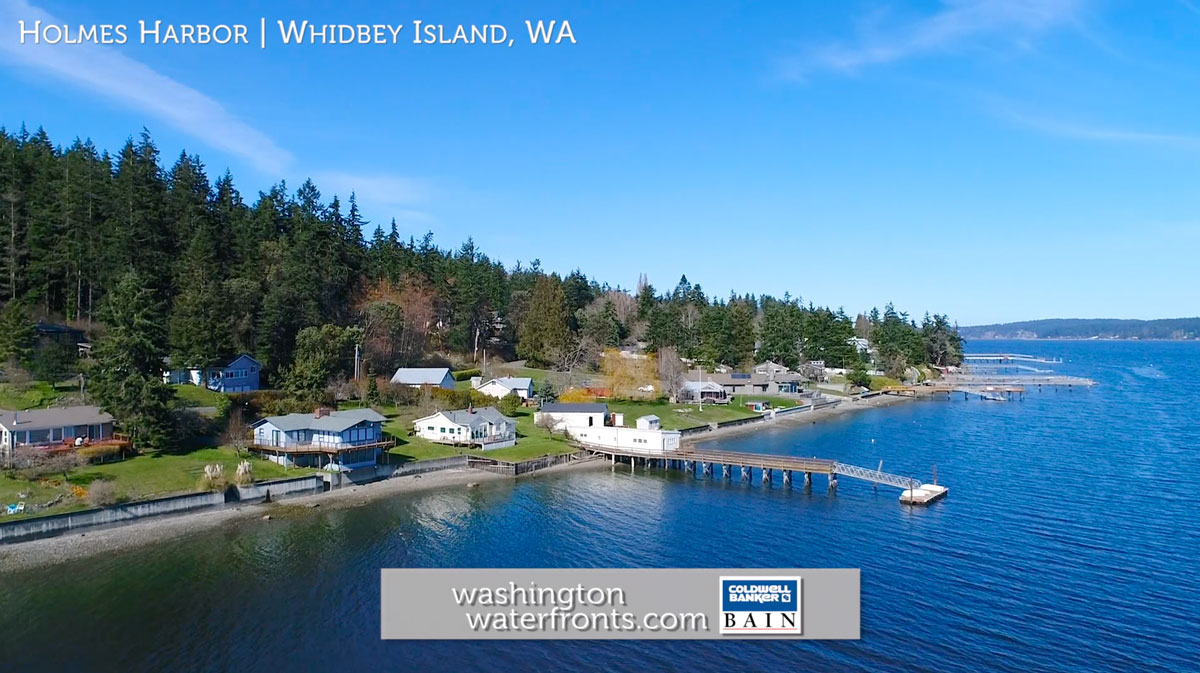 Holmes Harbor Waterfront Real Estate on Whidbey Island, WA