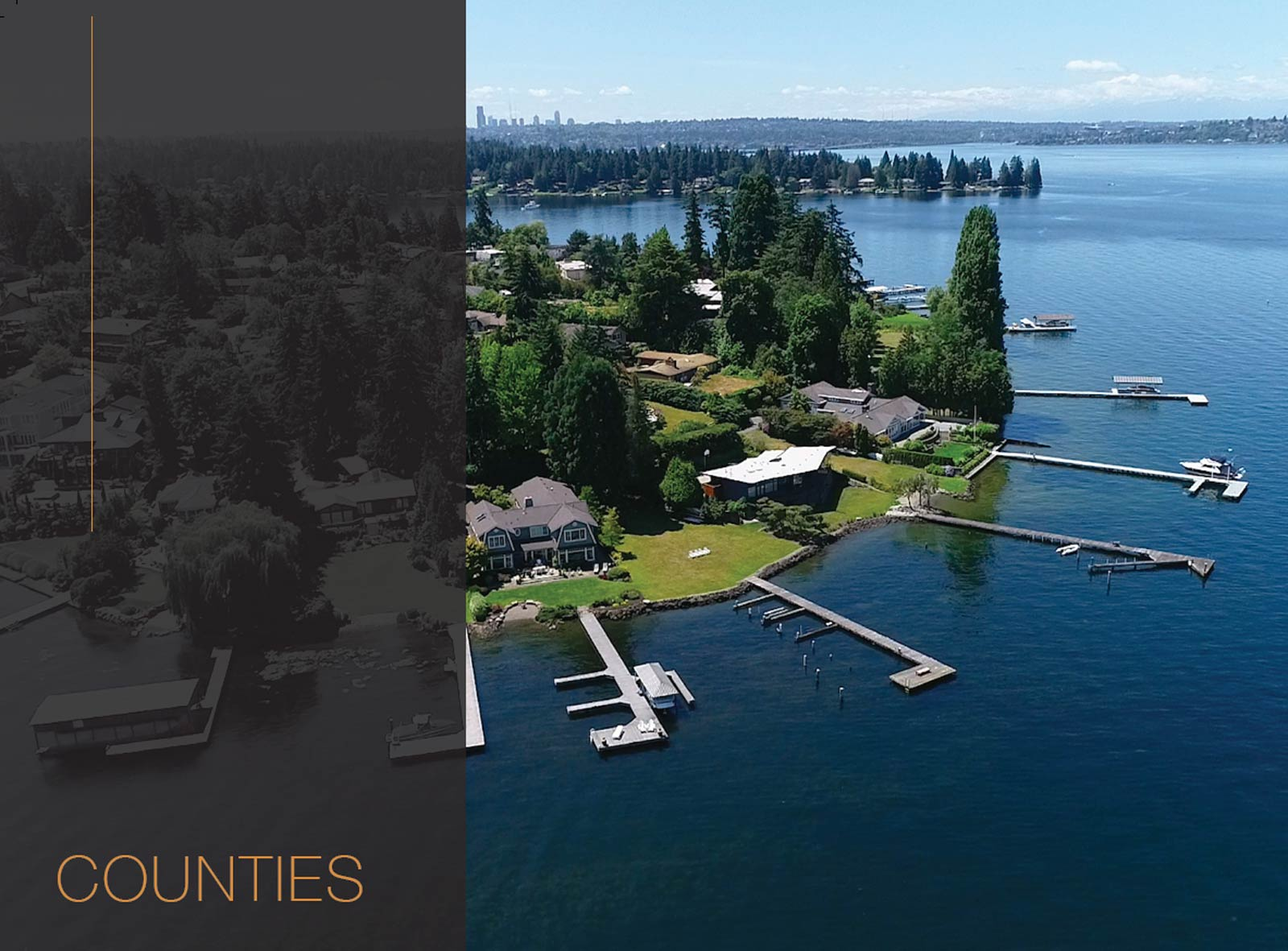 Washington Waterfront Market Statistics by County