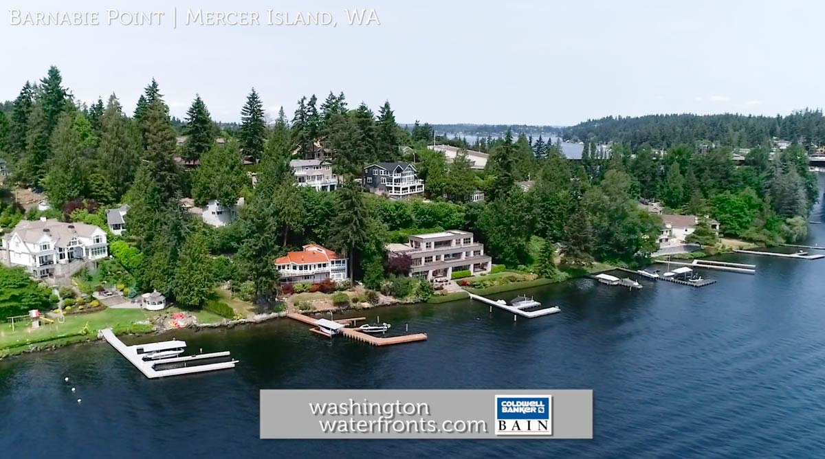 Barnabie Point Waterfront Real Estate in Mercer Island, WA