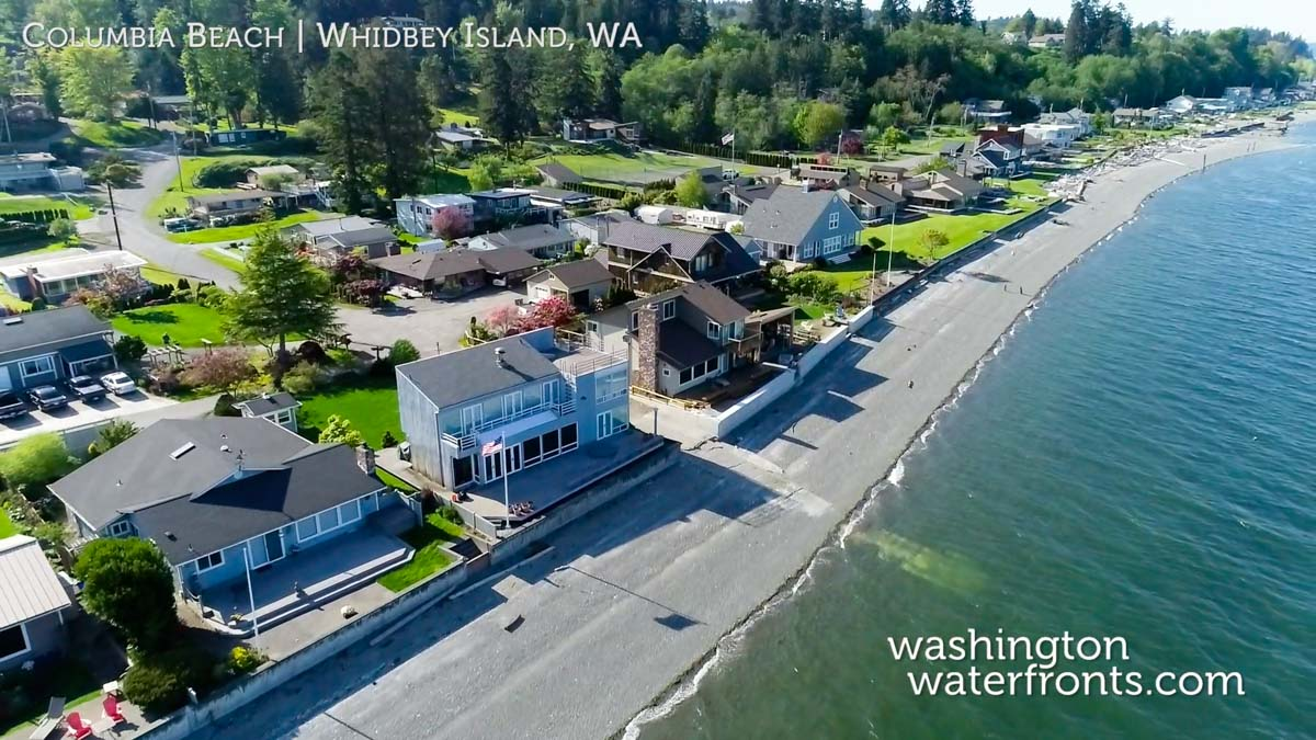 Columbia Beach Waterfront Real Estate in Whidbey Island, WA