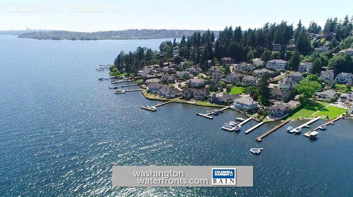 Juanita Point Waterfront Real Estate in Kirkland, WA