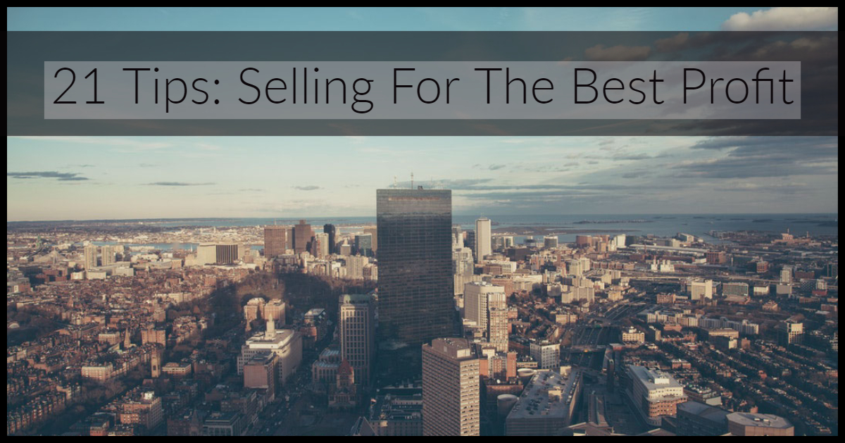 21 tips selling for the best profit