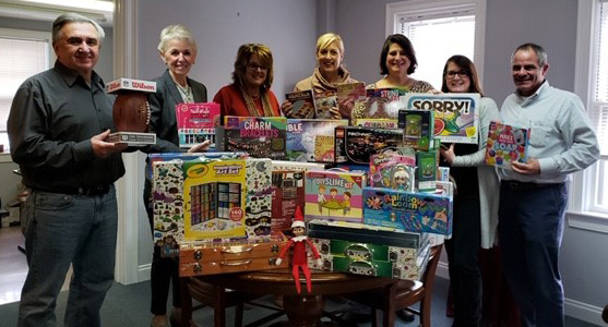 Agents in the Chelmsford office purchased toys for the annual Christmas party