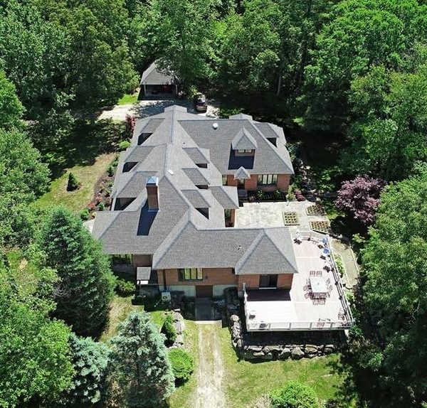 Mendon Luxury Home Overhead View