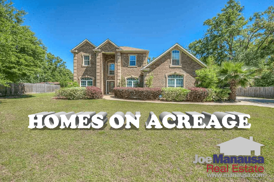 take a look at a complete list of all homes for sale on acreage in Leon County and then follow along with our report on 15 years of large-tract home sales