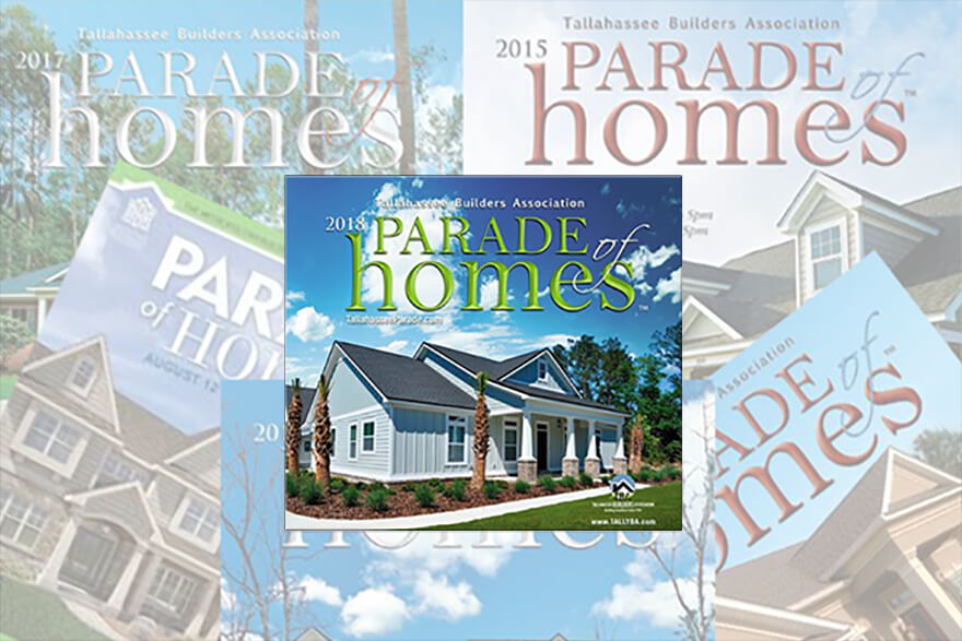 There are 26 homes in the Tallahassee Builders Parade of Homes. 22 builders across 3 counties (Leon, Jefferson and Wakulla) will showcase the latest in new home construction to compete for the coveted Best in Show Award