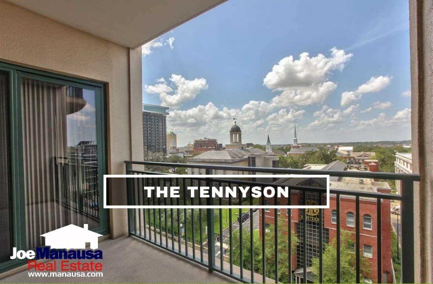 The Tennyson is a vertical condominium located on North Monroe Street which gives units within great views of Tallahassee's downtown area.