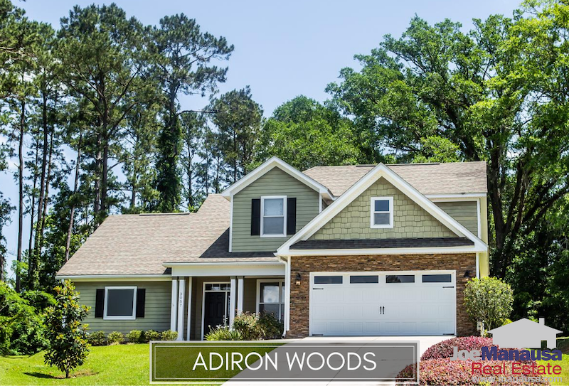 Adiron Woods is a very popular small neighborhood of 81 homes located on the east side of Tallahassee near the intersection of Walden Road and Mahan Drive.