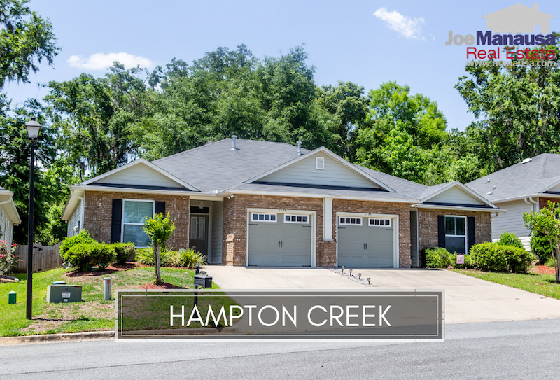 Hampton Creek in Southeast Tallahassee is a neighborhood of roughly two hundred detached and attached single-family homes.