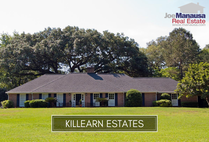Killearn Estates is the most active neighborhood in the Tallahassee real estate market, serving as the foundation of the northeast quadrant of Leon County.