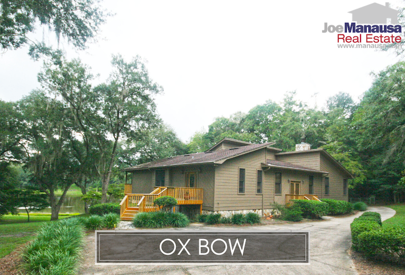 Ox Bow is the local nickname for the group of luxury homes in Quail Ridge, parts of Ox Bottom, Sleepy Hollow, and Ox Bow Estates.