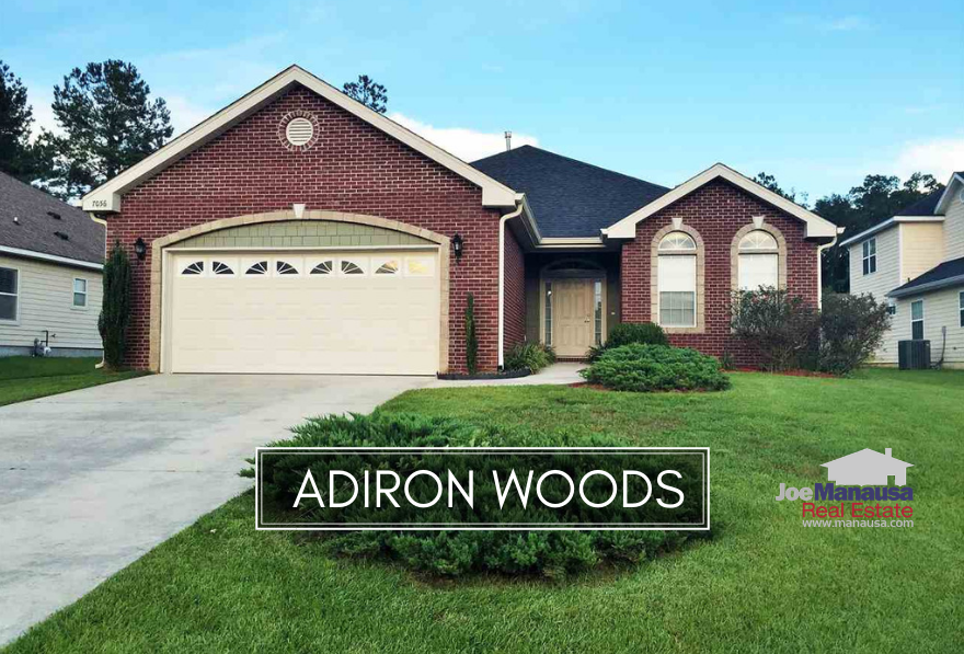 Adiron Woods is a small but popular neighborhood on the east side of Tallahassee, featuring three and four bedroom homes that have been built since 2005.