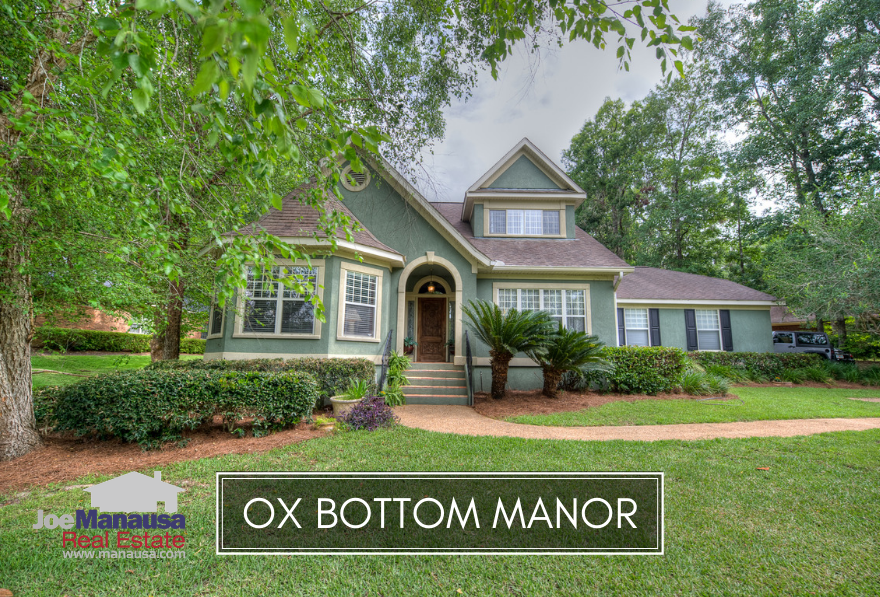 Ox Bottom Manor is a highly prized neighborhood located in NE Tallahassee's 32312 zip code.
