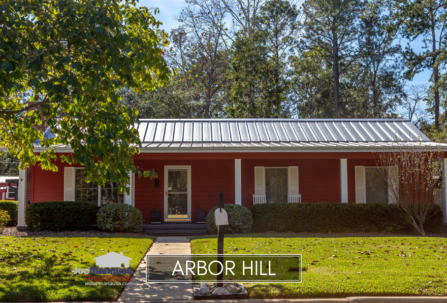 Arbor Hill is a popular neighborhood located in NE Tallahassee, offering smaller three and four bedroom homes and patio homes to today's value-minded buyer.