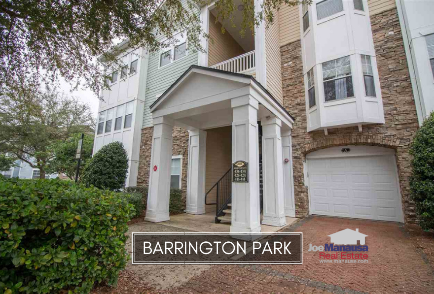 Barrington Park is a popular condominium development located in northeast Tallahassee at the corner of Chancellorsville Drive and Thomasville Road.