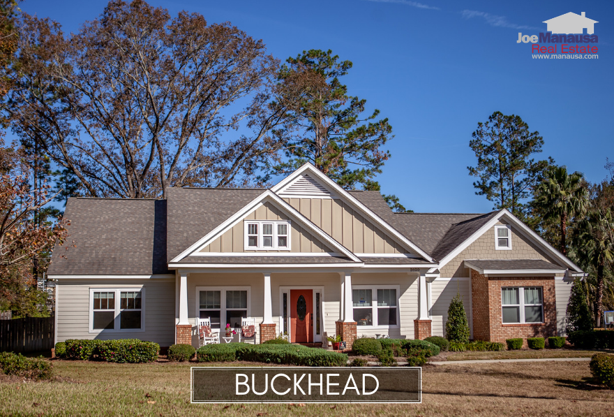 Buckhead is a small but popular NE Tallahassee neighborhood featuring nearly 160 newer executive level homes on half acre + lots