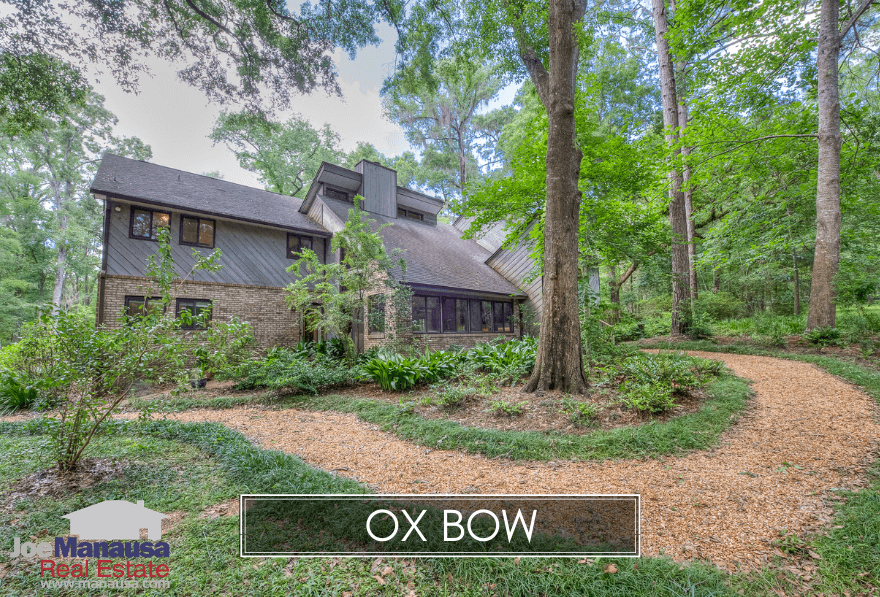 Ox Bow is small area in NE Tallahassee that features large luxury homes on acreage just off the west side of Thomasville Road.