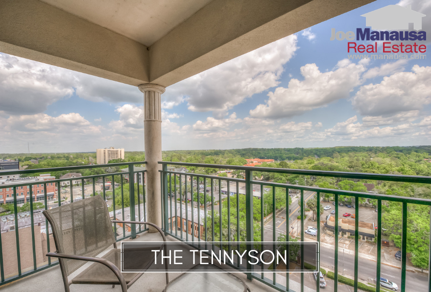 The Tennyson is a ninety-unit vertical condominium development in downtown Tallahassee that offers large private balconies with panoramic views of the Capitol Building, the FSU stadium, Cascades Park, and more.