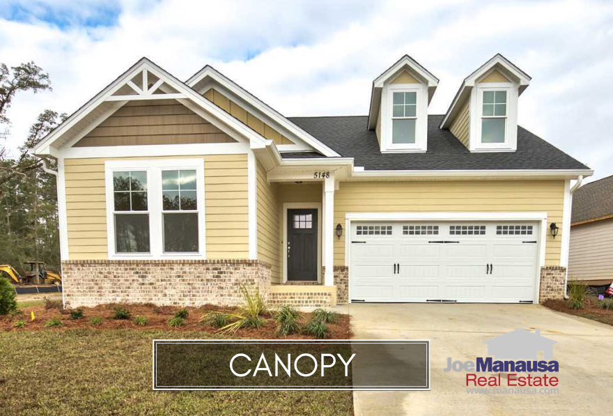 Canopy is a smoking hot new construction neighborhood located in NE Tallahassee at the intersection of Centerville Road and Fleischmann Road.