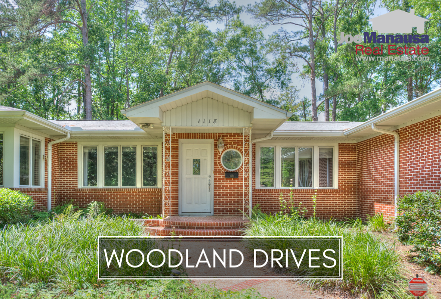 Woodland Drives is a downtown Tallahassee neighborhood of roughly 450 homes that were built from 1875 to several that were built in more recent years. Due to the wide range of ages, Woodland Drives is ripe for renovation projects.