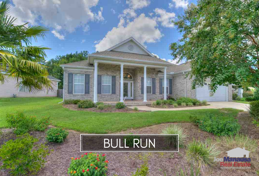 One of the hottest neighborhoods in all of Tallahassee for new and newer three and four bedroom homes for the past ten years has been Bull Run.