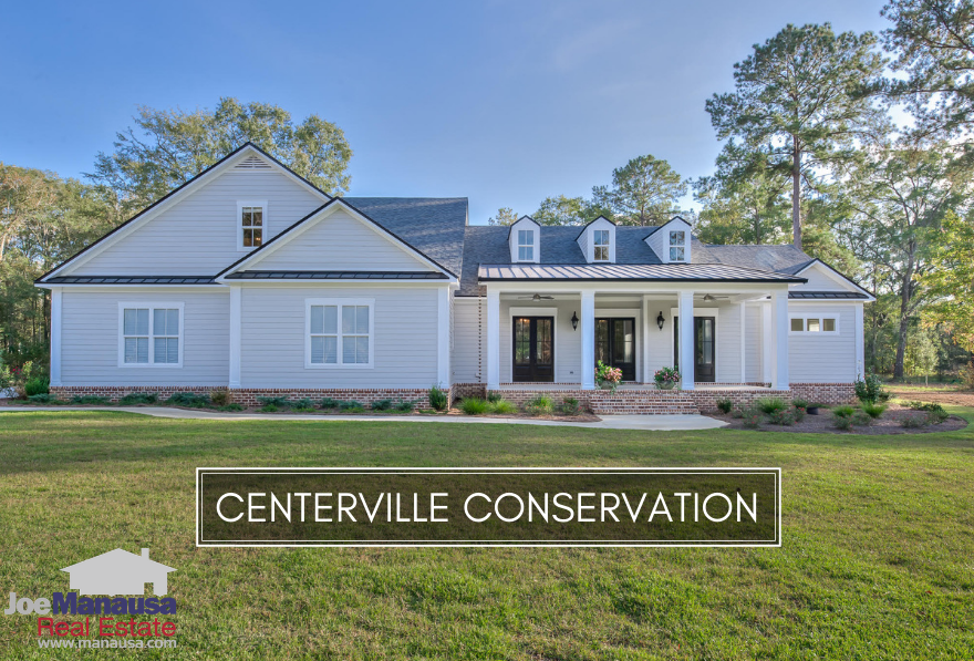Centerville Conservation is a NE Tallahassee high end neighborhood that offers brand-new and like-new large homes on small acreage tracts.