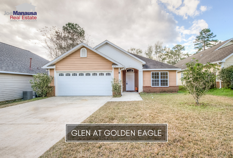 The Glen at Golden Eagle is located in NE Tallahassee, within Killearn Lakes Plantation, directly across the lake from the world-class Golden Eagle golf course designed by Tom Fazio.