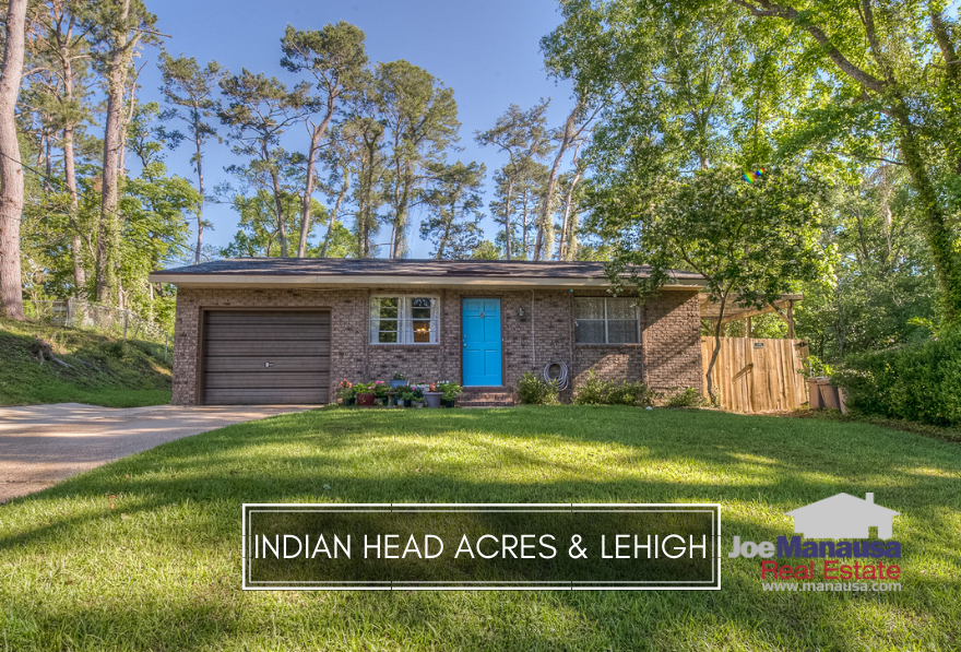 Indian Head Acres & Lehigh are downtown neighborhoods located across Apalachee Parkway from the Governor's Square Mall and residents here are within walking distance to dining, entertainment, shopping, Cascades Park and Myers Park too.