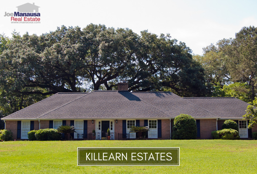 Killearn Estates is a highly active community in the Tallahassee real estate market, hosting 3,800 homes in a wide array of price ranges.
