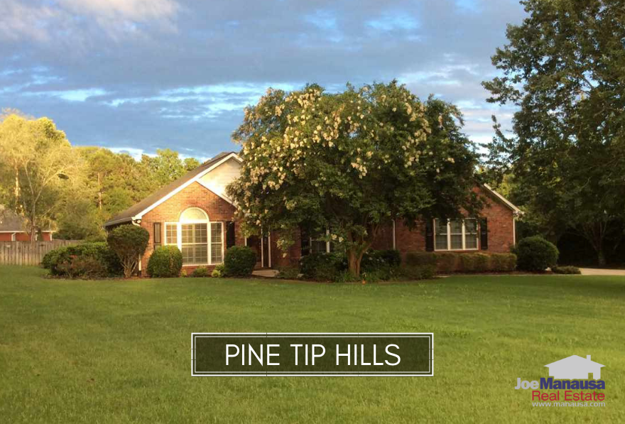 Pine Tip Hills is a small and somewhat hidden neighborhood located on the north side of town.