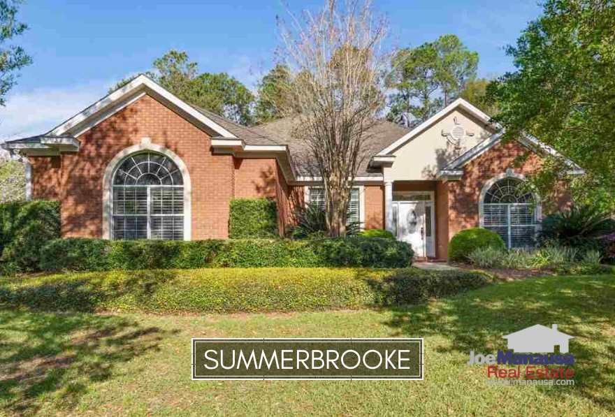 Summerbrooke is a very popular Northeast Tallahassee neighborhood situated around a golf course and offering executive level homes.